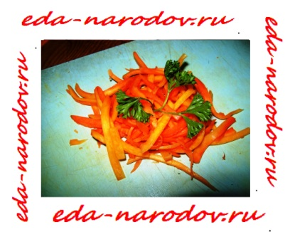 Салат из моркови - фото