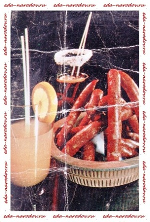 Охотничьи колбаски - < Коктейли>, <Калевипоэг>,  <Линда>