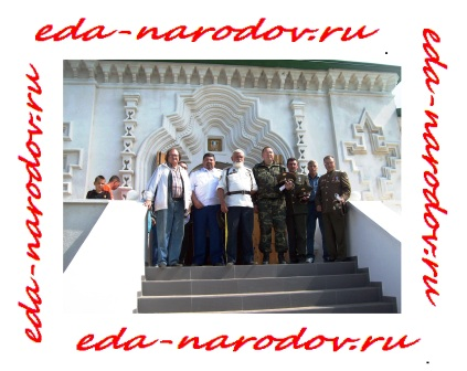 Казаки в монастыре на Байкале