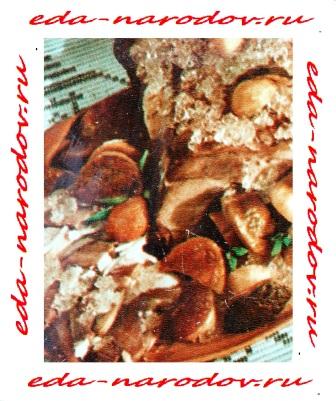 Корейка - фаршированная грибами