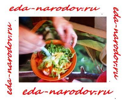 Салат с помидорами фото рецепт