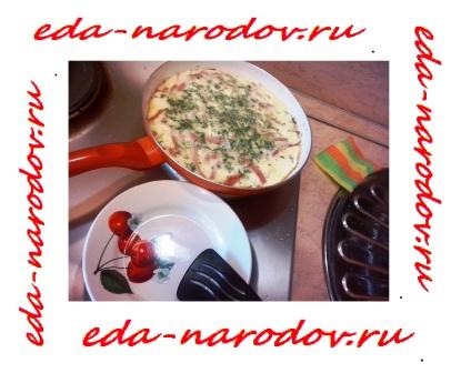 Рецепт омлета -на сковороде