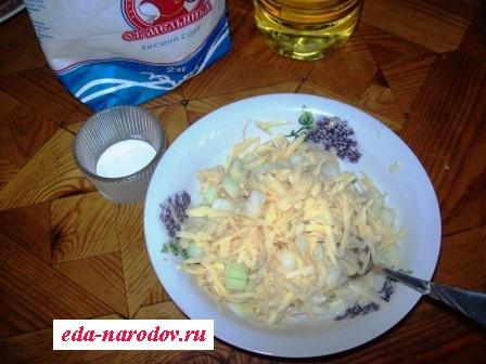 Фарш из натертого картофеля