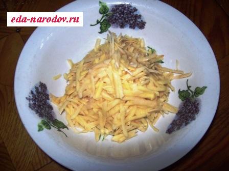 Картофель натертый